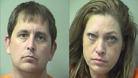 Mugshots of Tyler Hale, left, and Jennifer Pope.