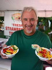 """Farmer Mike"" Clevenger gets fresh and keeps it healthy during the 2015 Taste of Bonita."