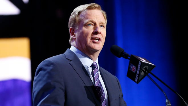 Roger Goodell completes a decade as commissioner of the NFL on Thursday.