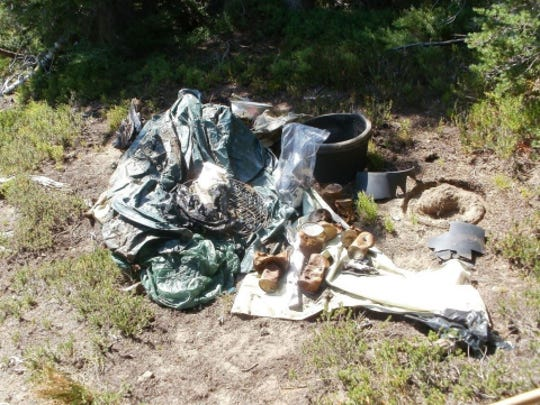 Trash has become an increasing problem in the wilderness areas on the Cascade Crest.