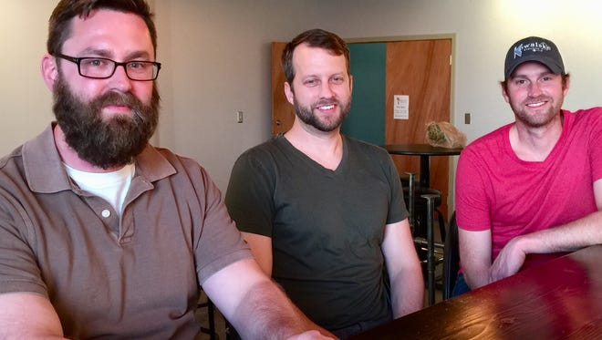 Jonathan Kowalske and cousins DJ and Steve Kowalske own Component Brewing, which opens to the public on Friday.