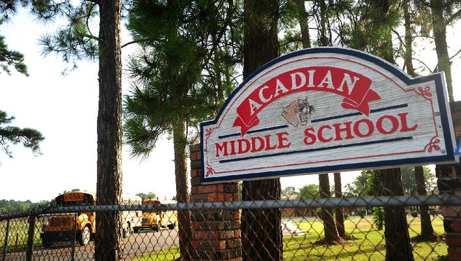Acadian Middle is one of seven schools where parents can request transfers.