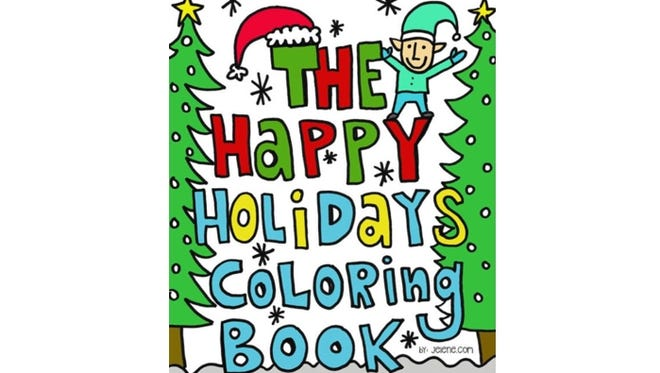 The Happy Holidays Coloring Book