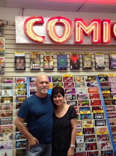Alan and Marsha Giroux of All About Books and Comics.