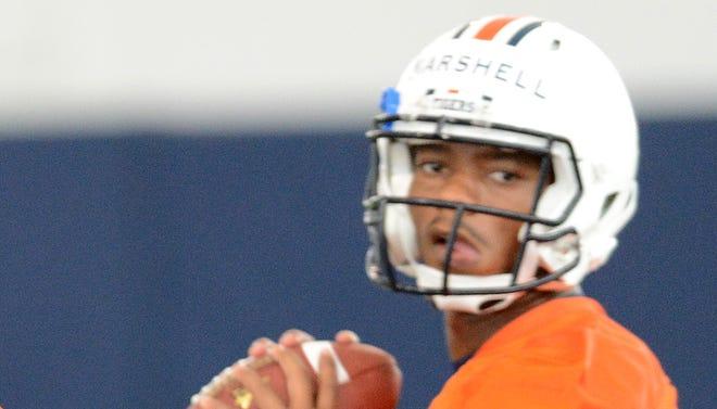 Auburn quarterback Nick Marshall has won the starting job.