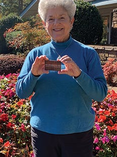 Wanda Selman won October's dinner gift card from the Village Employee Benefit Fund.