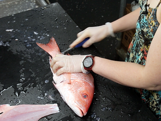 Rachel Firak is passionate about her career as a fishmonger