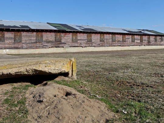 The former barracks at Fort DuPont where German prisoners of war were housed during World War II.