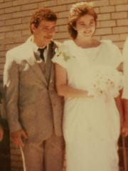 Robert, left, and Suzanne Klein on their wedding day