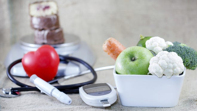 A proper, balanced diet can help lower risk for diabetes.