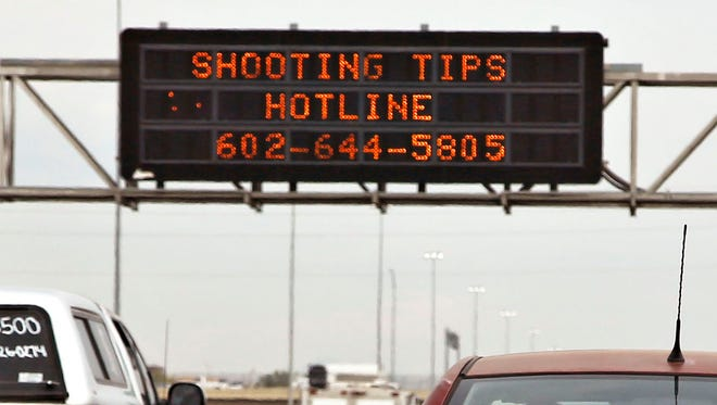 What Valley drivers saw during the freeway shooting scare.