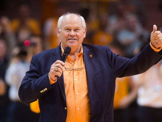 Tennessee athletic director Phillip Fulmer introduces