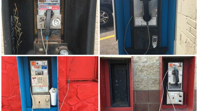 pay phone collage