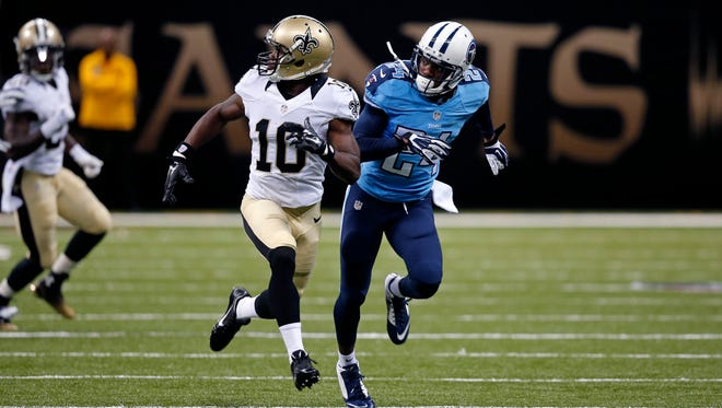 New Orleans Saints wide receiver Brandin Cooks is the subject of trade talk this offseason.