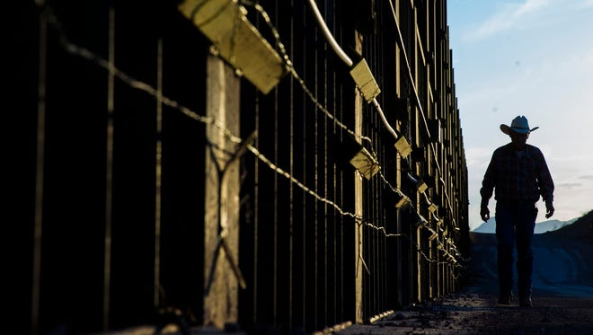 There are currently 654 miles of fencing on the border, including 354 miles of pedestrian fencing and 300 miles of vehicle fencing.