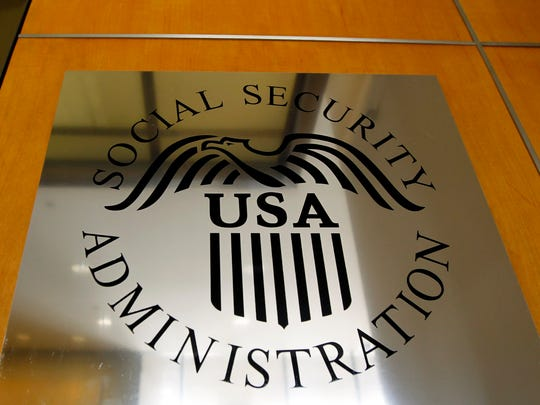 A sign for the Social Security Administration in Los