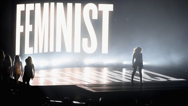 Beyonce performs onstage during the 2014 MTV Video Music Awards at The Forum on Aug. 24, 2014, in Inglewood, Calif.