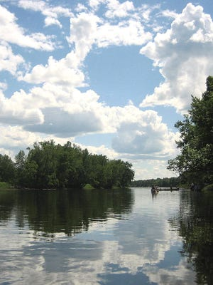 The Menominee River is the border between Wisconsin and Michigan's Upper Peninsula.