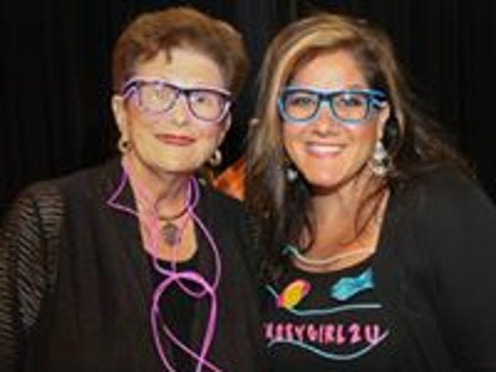 Judge Jane Rowley, left, and emcee Lynette Maraffa