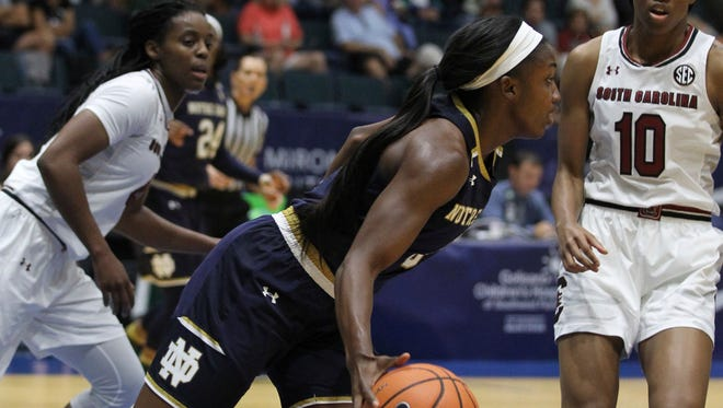 After winning the 2017 Gulf Coast Showcase by beating defending national champion South Carolina in the championship game in Germain Arena, Notre Dame went on to win its first national title in 17 seasons.