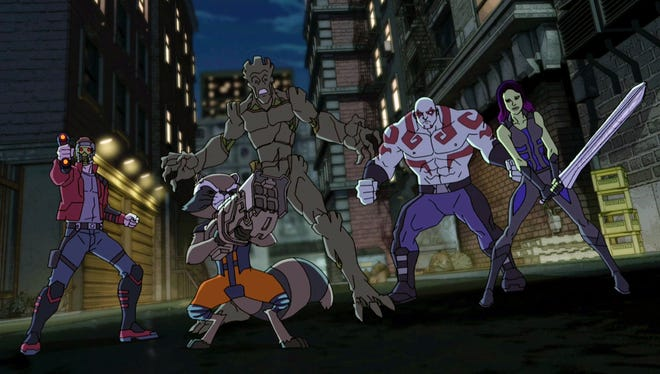 The Guardians of the Galaxy come to Earth when Infinity Stones are involved in a new episode of 'Marvel's Avengers Assemble.'