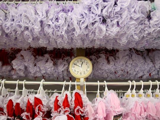 LidÕl Dolly dresses are lined up at the LidÕl DollyÕs