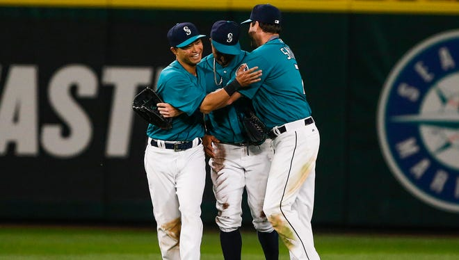 An outfield of Nori Aoki, Leonys Martin and Seth Smith features two newcomers and a holdover - Smith - with a .372 on-base percentage.