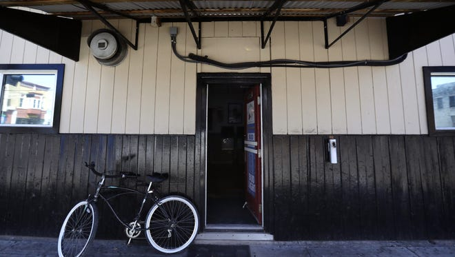 Lt. Jay Steinke entered through this side door at Jack's Apple Pub, 535 W. College Ave., before firing his gun.