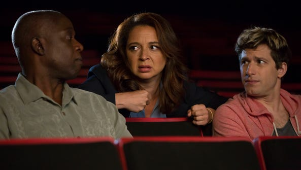 Andre Braugher, guest star Maya Rudolph and Andy Samberg