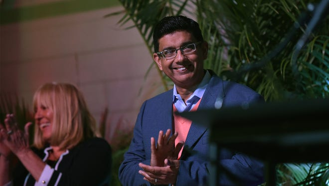 Dinesh D'Souza at the Vero Beach Prayer Breakfast on March 22, 2018.