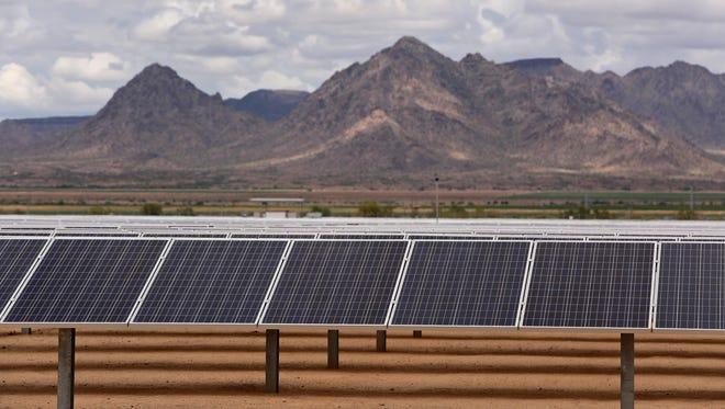 A solar plant in Buckeye.