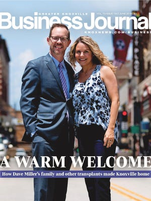The Knoxville Business Journal's June cover features Dave and Sarah Miller.
