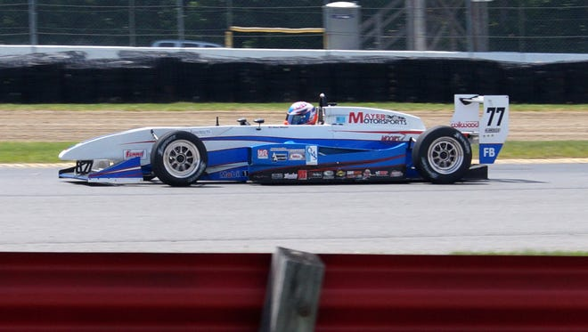 Alex Mayer races at Mid-Ohio in May of this year. He will be among those competing at the SCCA Majors Tour this weekend at Watkins Glen International.