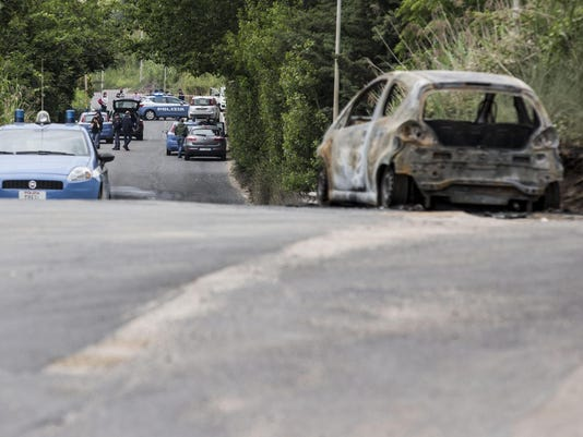 Italy Woman Burned Alive (2)