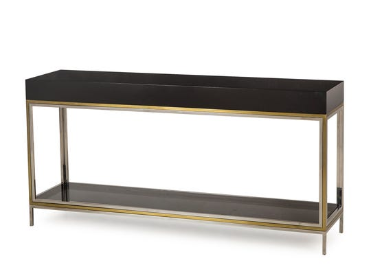 The Harlequin Console Table , part of the Boyd collection by Resource Decor.
