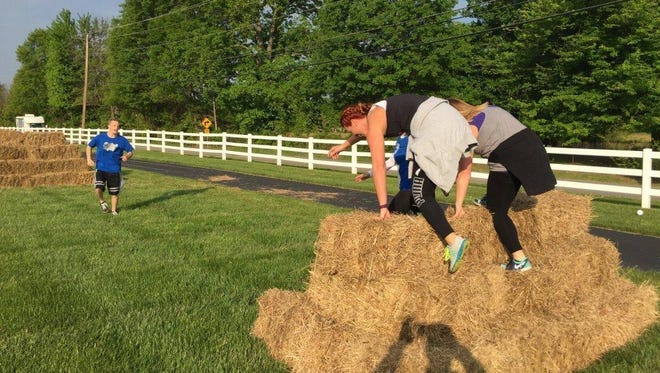 Batavia Township's East Side Adventure Challenge features a number of obstacles including a hay bale challenge. The event will be May 13 at Batavia Township Park.