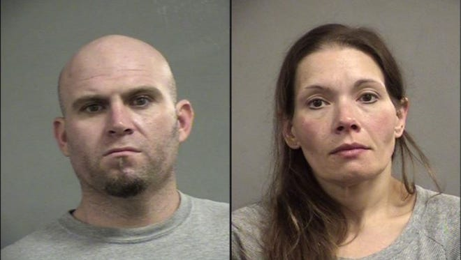 Joseph Sowards, left, and Amy Age, right, are accused of trafficking large amounts of drugs.