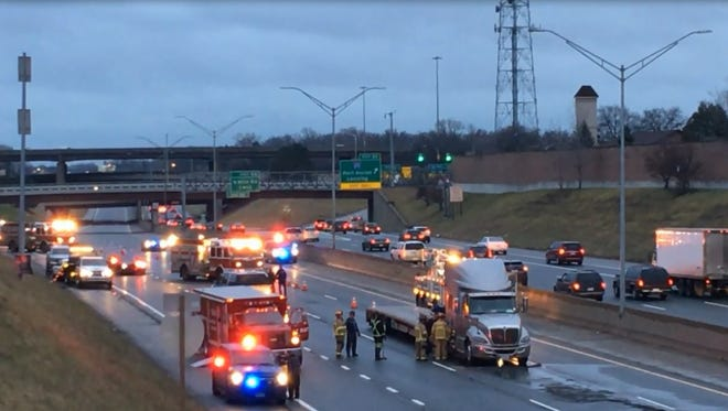 Northbound I-75 closed off Jan. 26, 2017, due to a hazmat clean-up.