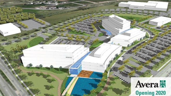A new Avera campus at 69th and Louise will cost $174 million, officials say.