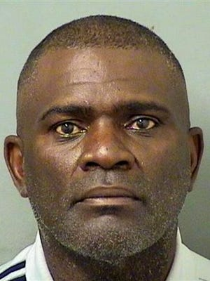 This booking photo provided by the Palm Beach County Sheriff's Department shows ex-NFL football player Lawrence Taylor, who was arrested Friday, Aug. 2, 2016, in Palm Beach County, Fla., on a DUI charge. (Palm Beach County Sheriff's Department via AP)
