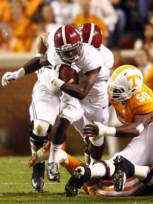 T.J. Yeldon and the Alabama Crimson Tide are ranked third in both national polls.