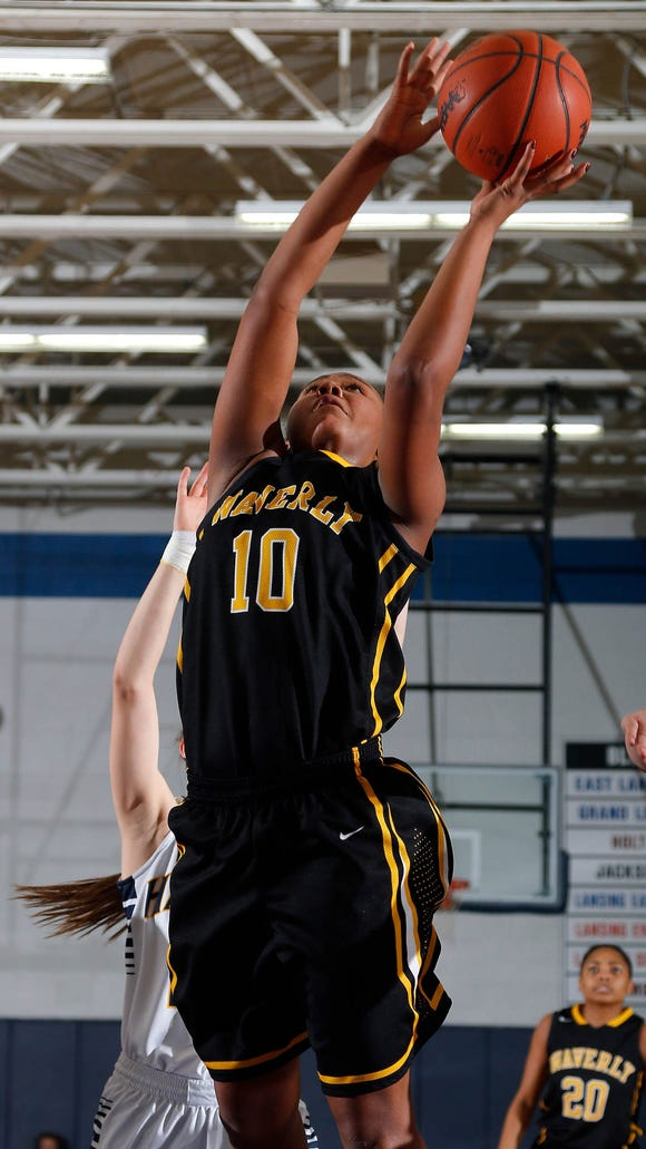 Breanna Mobley, shown during a game earlier this month, was one of the area's top performers Tuesday.