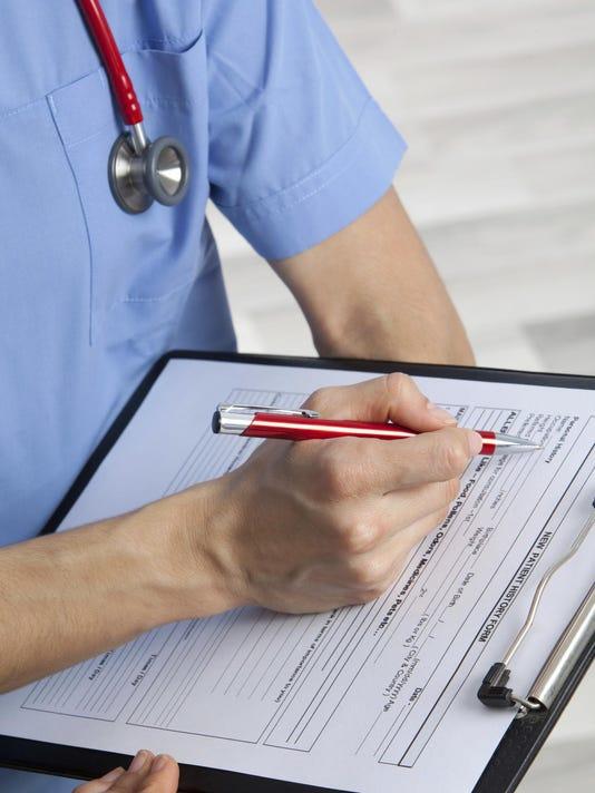 Hospital nurse form
