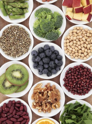 """""""Iron, zinc, calcium and vitamin B12 intake may be low, but because many foods are fortified (breakfast cereal, dairy alternatives) it isn't a problem for most people,"""" said Catherine Savage, a registered dietitian at Ministry Saint Joseph's Hospital in Marshfield."""