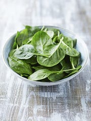 Spinach is a rich source of nutrients, such as vitamin A, specifically beta-carotene; vitamin K, which helps with blood clotting and bone health; and folate, which reduces the risk of certain birth defects.