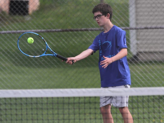 Unbeaten No. 3 singles player Charles Selser is the