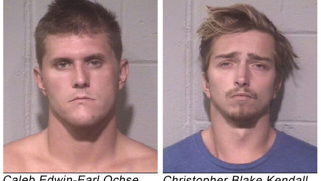 Caleb Edwin Earl Ochse, left, and Christopher Blake Kendall
