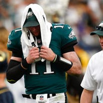 Hopeless optimism? Some Eagles fans have faith in Wentz's backup