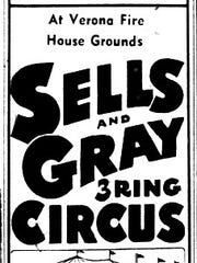 Newspaper advertisement for a circus in Verona in 1970.