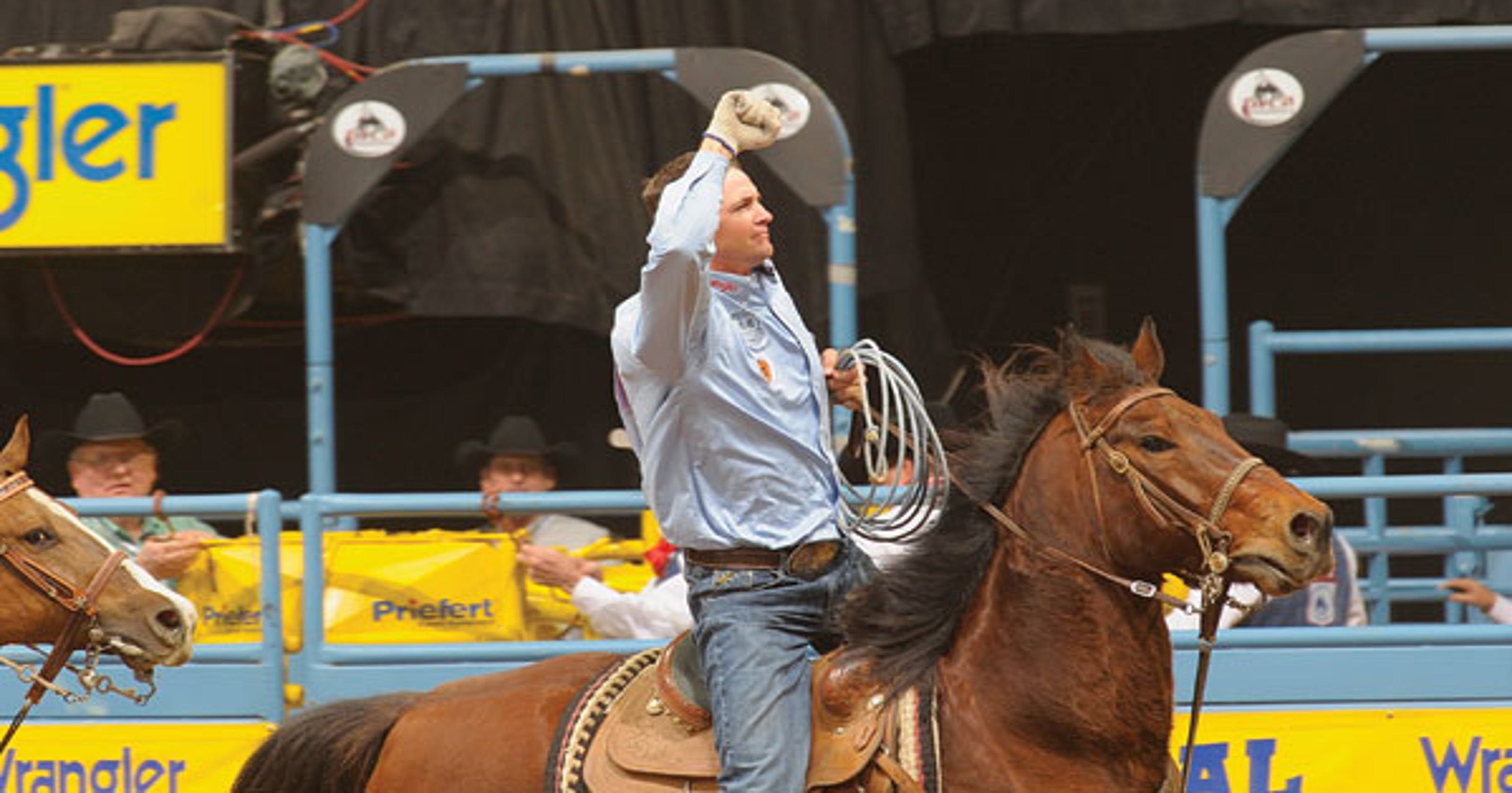 Pro Rodeo Travis Tryans Great Horse Walt Honored